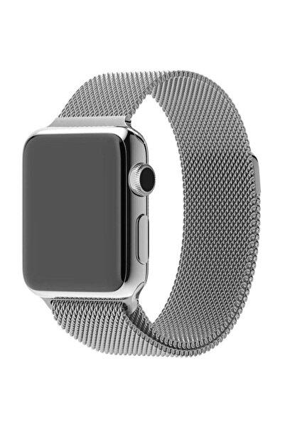 Apple Watch 2 3 4 5 6 Uyumlu Se 42 Mm 44 Mm Hasır Örgü Metal Milano Kordon Kayış