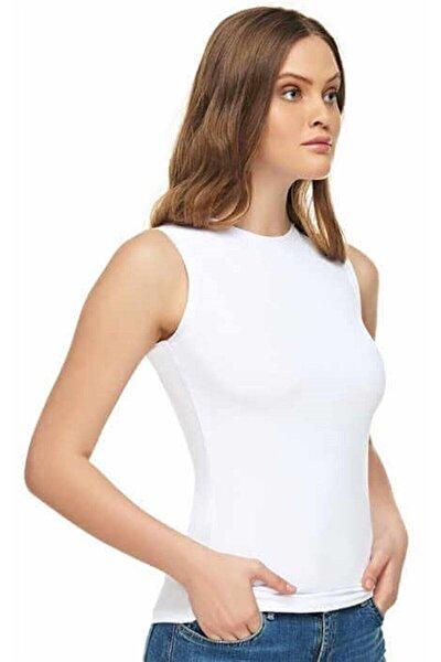Kadın Modal Kolsuz Bady Beyaz