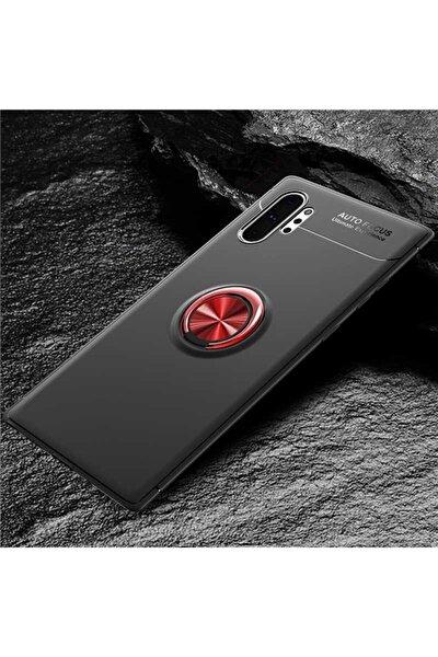 Samsung Galaxy Note10 Plus Kılıf Ravel Yüzüklü Silikon Kapak