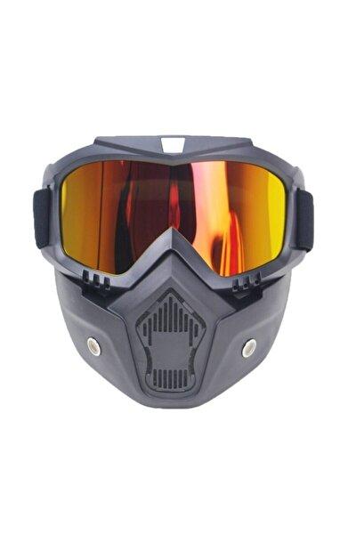 Snowboard Kayak Çıkarılabilir Gözlük Ve Solunum Kar Maskesi Tam Yüz Maske