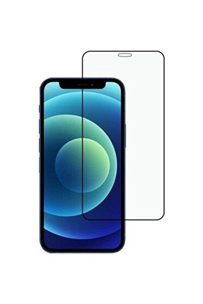 Iphone 12 Kırılmaz Cam, Iphone 12 Ekran Koruyucu Şeffaf Tam Kaplama  Lansman Silikon Siyah Kılıf