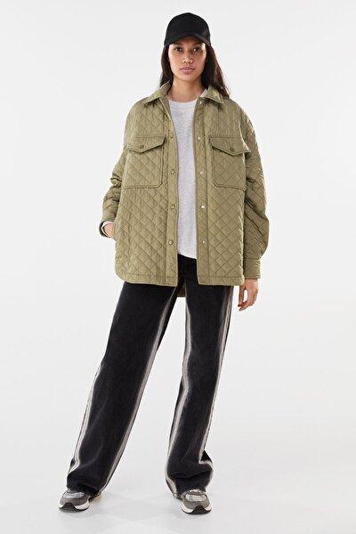 Kadın Haki Ince Ceket