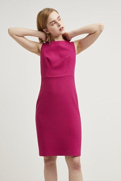 Kadın Fusya Sıfır Kollu Elbise