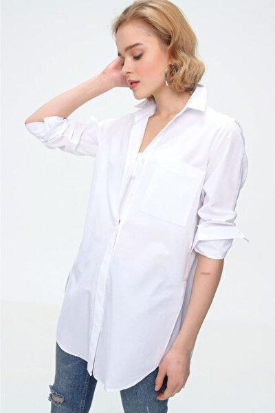 3879 Oversize Cepli Gömlek