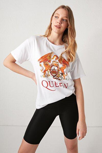 Queen Kadın Optik Beyaz E5X T-Shirt