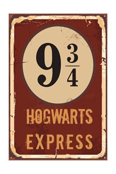 Harry Potter Hogwart Express Dokuz Çeyrek Retro Vintage Ahşap Poster