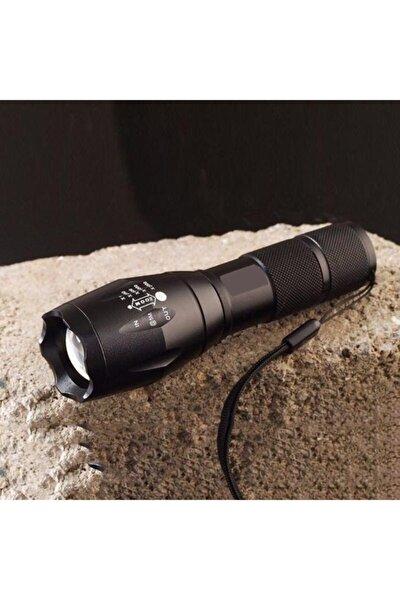 Tac Light 40x Zoomlu Uzun Menzilli Premium Kalite Ultra Parlak Komando Polis Sağlam Metal El Feneri