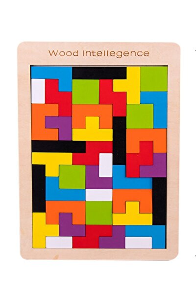 Ahşap Blok Tetris Eğitici Zeka Oyunu