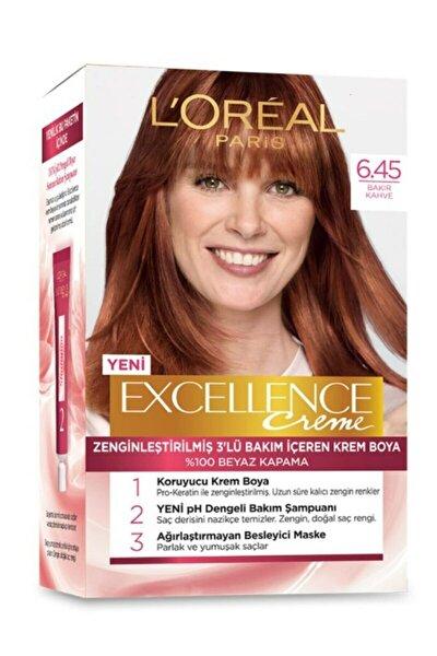 Loreal Excellence Creme Saç Boyası 6.45 Bakır Kahve