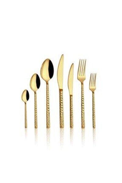 Gold Hasır 6 Parça Tatlı Bıçağı