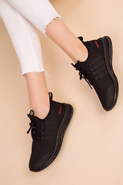 Siyah-siyah Kadın Sneaker 52517