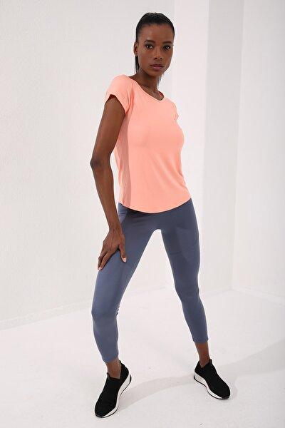 Mercan Kadın Sırt Pencereli Kısa Kol Standart Kalıp O Yaka T-shirt - 97101