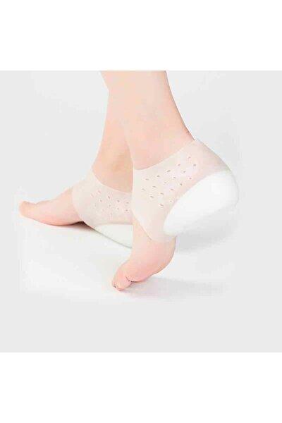 Boy Uzatıcı Görünmez Tabanlık Katı Silikon Tabanlık Sert Giyen 4 Cm Şeffaf-çorap