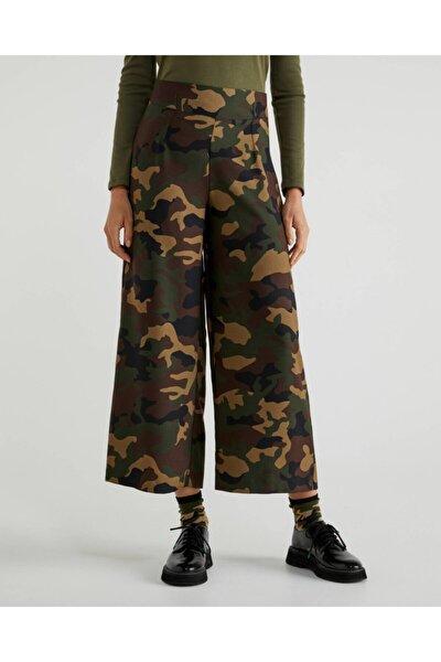 Benetton Beli Lastikli Desenli Pantolon