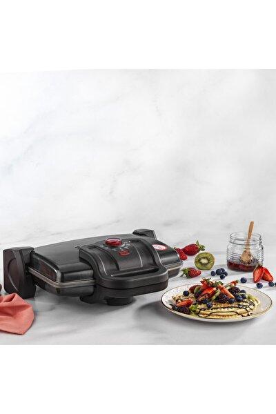Nostalgie Waffle Tost Makinesi Siyah Renk