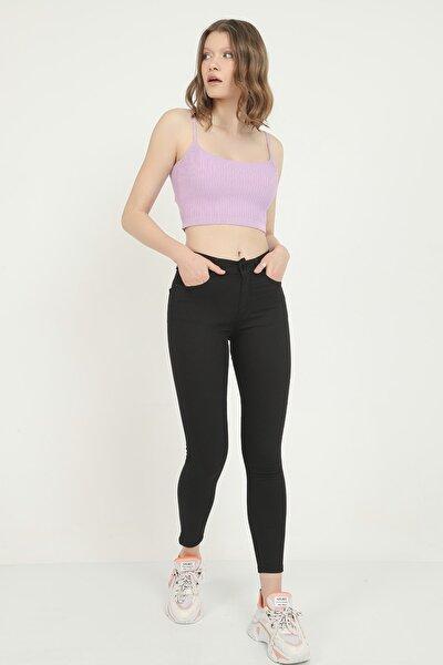 Kadın Siyah Yüksek Bel Skinny Jean