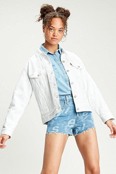 Kadın Beyaz Kot Ceket Trucker - 29944-0108