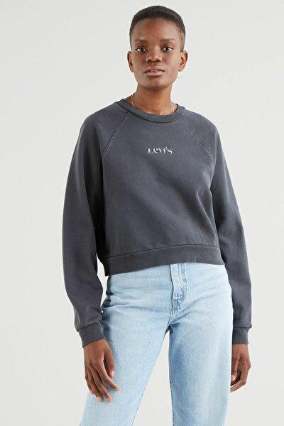 Kadın  Siyah  Vintage Raglan Crew Blackened Pearl Garment Sweatshirt