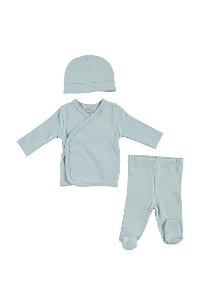 Bebek Organik Zıbın-Şapka-Patikli Alt 3lü Set