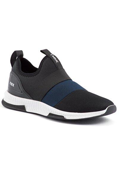 707 Siyah Lacivert Hava Akışlı Erkek Spor Ayakkabı