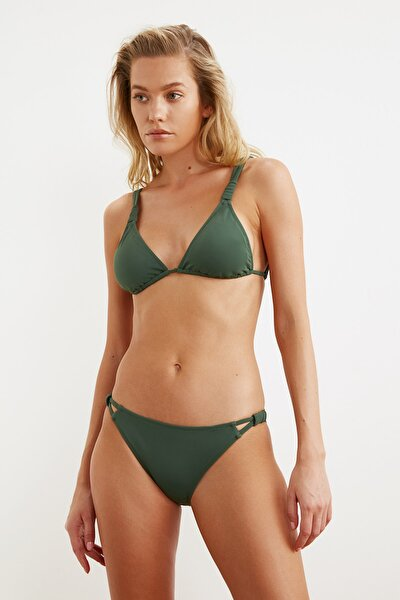 Yeşil Cut-Out Detaylı Bikini Altı TBESS21BA0183