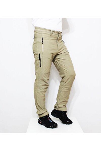 Erkek Bej  Likralı Outdoor Pantolon