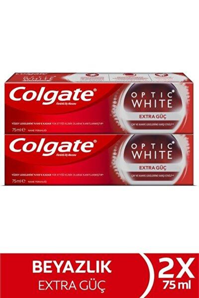 Optic White Extra Güç Çay Ve Kahve Lekelerine Karşı Etkili Beyazlatıcı Diş Macunu 2 X 75 ml