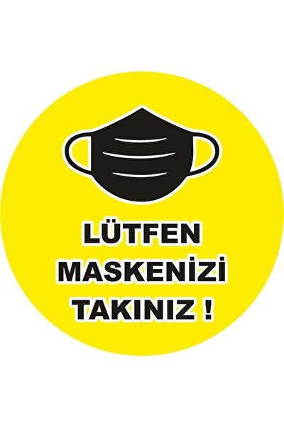 Sosyal Mesafe Maske Etiketi 14 Kural Msketk ( 5 Adet 20cmx20cm )