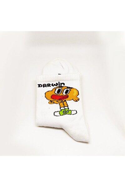 Beyaz Darwin Çorap