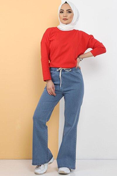 Ispanyol Paça Kot Pantolon Tsd22014 Açık Mavi