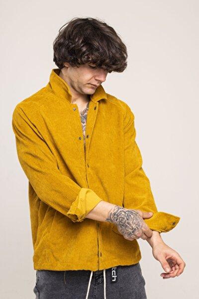 Hardal Kadife Çıtçıtlı Ceket Gömlek 1kxe2-44508-37