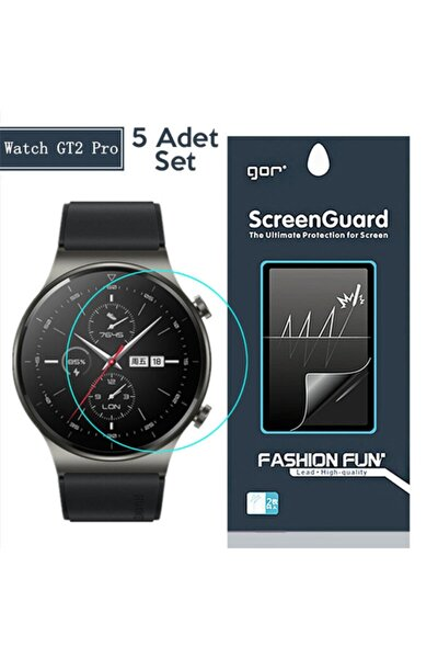 Gor Huawei Watch Gt 2 Pro Darbe Emici Ekran Koruyucu 5 Adet Set