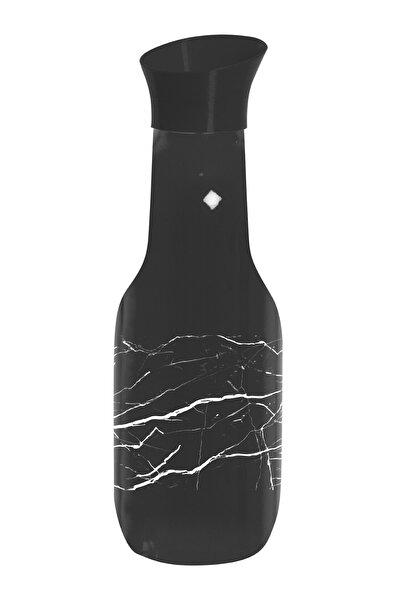 Herevin 1 Lt Siyah Renkli Ve Mermer Desen Baskılı Karaf Su Şişesi