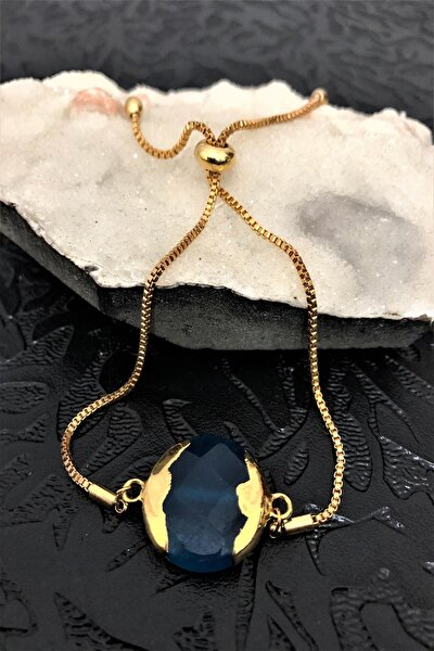 Dr Stone Golden Ceyt Taşı 22k Altın Kaplama El Yapımı Kadın Bileklik Tkrb8