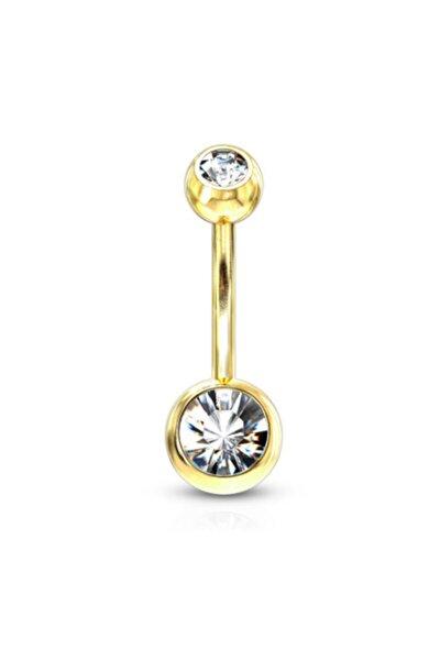 Gold Altın Sarısı Medikal Çelik Göbek Piercingi