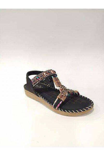 2oy150-10 Esnek Taban Kadın Sandalet