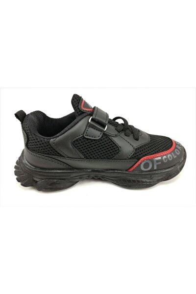 Siyah 31-35 Numara Çocuk Spor Ayakkabı