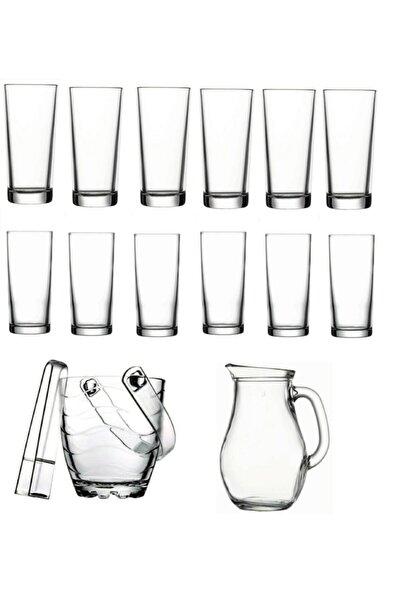 Meşrubat Bardağı Ve Buz Kovası Seti 15 Parça