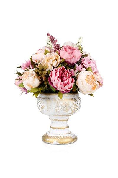 Pastel Renkli Güllü Tanzim Yapay Çiçek