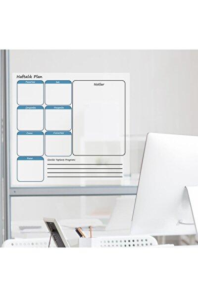 Haftalık Planlayıcı 72x60cm Kağıt Tahta + Doldurulabilir Silgili Beyaz Tahta Kalemi Hediye