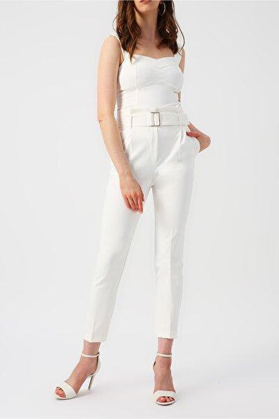 Kadın Kalın Askılı V Yakalı Bluz %85 Polyester %15 Elastane
