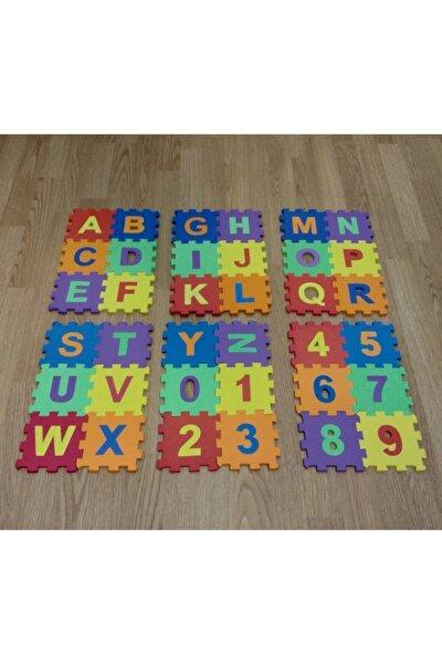 36 Parça 12cm X 12cm Harfler Ve Sayılar Eva Puzzle Oyun Matı