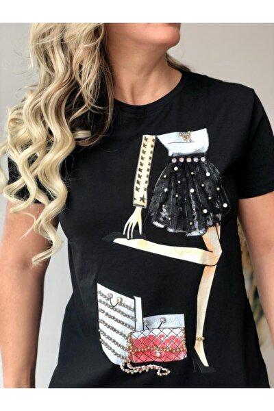 Taş Detaylı T-shirt