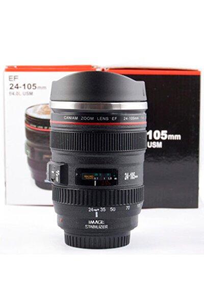 Kamera Lensi Objektif Görünümlü Termos Kupa Mug Bardak