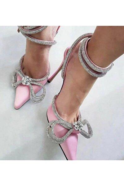 Paris Loving Kristal Taşlı Ayakkabı Pembe