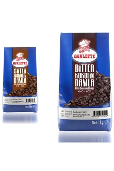 Sütlü + Bitter Damla Çikolata 2'li 2kg