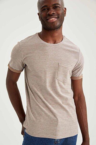Cepli Slim Fit Bisiklet Yaka Basic Tişört