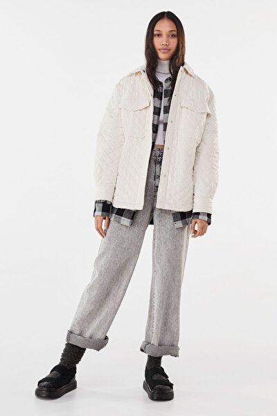 Kadın Krem Ince Ceket