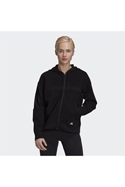 W KNIT V HOODIE Siyah Kadın Sweatshirt 101117977