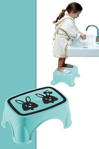 Kaymaz Tabanlı Bebek Çocuk Banyo Taburesi Yükseltme Basamağı Mint